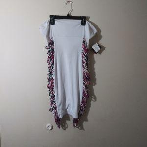 NWT Baby Phat White Strapless Bodycon Dress